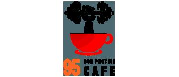 95 Cafe by Best Professional Branding & Logo Design Company in Mukkam, Calicut, Kerala. Shab Solutions is a Top Branding & Logo Design company in calicut, mukkam, Kerala, India